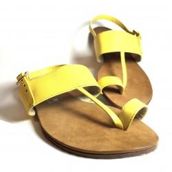 Sandalia trikini piel amarilla