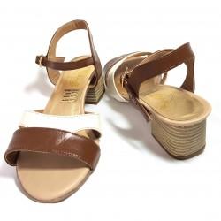 Sandalias de tacón piel...