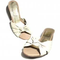 Sandalias de tacón piel blanco