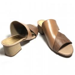 Sandalias de tacón cuero...