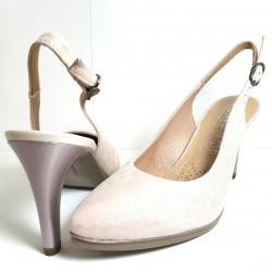 Zapatos de tacón piel salmón