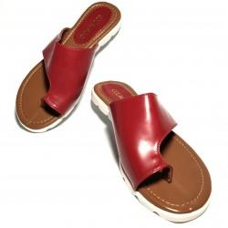 Sandalia piel suela goma