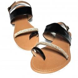 Sandalia piel suela goma...