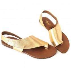 Sandalias dorada piel