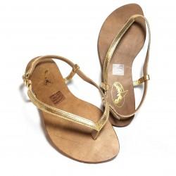sandalias trikini piel dorada